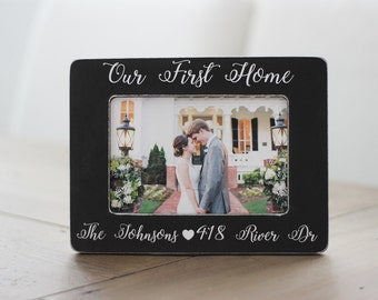 Our First Home GIFT Housewarming Gift Newlywed Gift First Home Gift Personalized Picture Frame