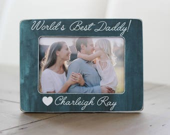 Personalized Gift for Dad, World's Best Dad, Birthday Gift for Dad, Gift for Husband, Personalized Picture Frame Dad Gift