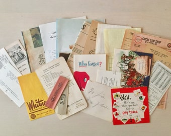 SALE- Ephemera kit - Scrapbook - Journal