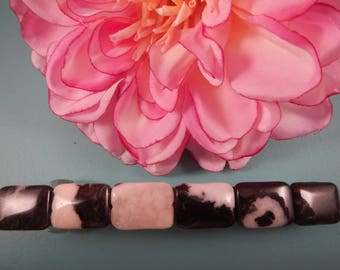 Hand Made 4 inch Barrette with Black and White beads,