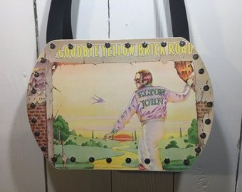 Elton John- Goodbye Yellow Brick Road vinyl record purse