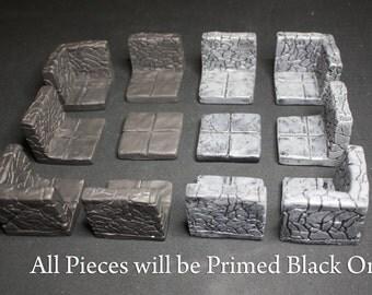 Dungeon Magnetized Tile Set (Primed Black)