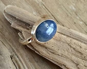 14K gold Leland Blue Stone Ring
