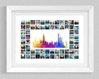 New York Cityscape with Photo Collage