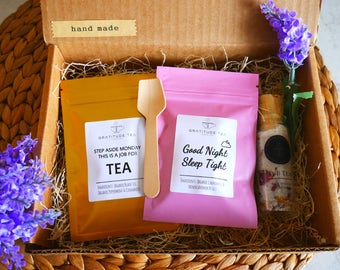 Client Gift Basket client appreciation gifts Thank you gift basket Teacher gift basket for Clients Herbal Tea Loose Tea Get Well Soon Gift