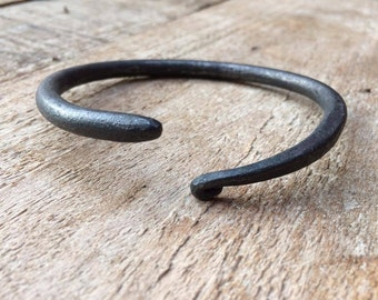 Hand forged iron bangle
