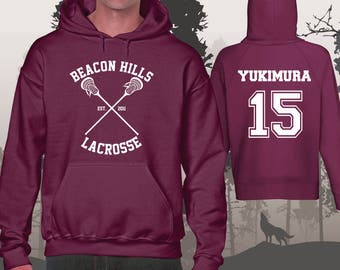 Teen Wolf Hoodie Beacon Hills Lacrosse Hoodies Yukimura 15 Unisex and Mens