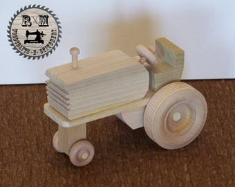 Wood Toy Farm Tractor