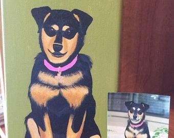 Custom Pet Portrait Acrylic Paintings