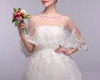 Ivory Lace Bolero, Ivory Bridal Bolero, Ivory Wedding Bolero, Lace Bolero Shrug, Lace Bolero Wrap, Lace Bolero Shawl, Bridal Jacket