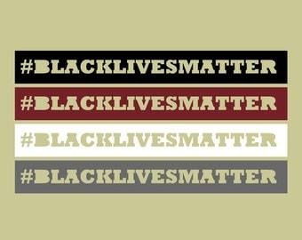 Black Lives Matter vinyl sticker