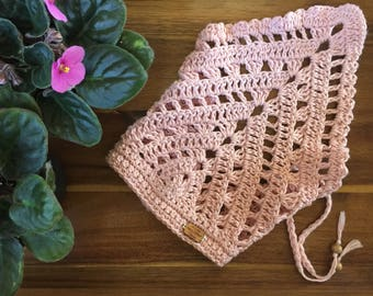 Handmade Crocheted Bandana, Headscarf, Hairwrap, Kerchief