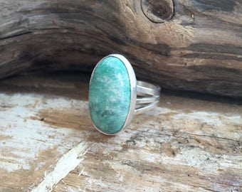 Hand Made Sterling Silver Natural Pixie Turquoise Ring