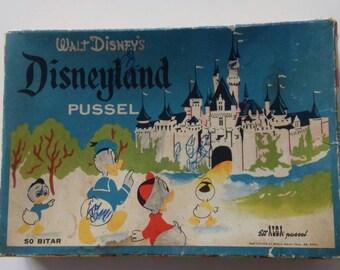 Jigsaw wood vintage Disney puzzle donald duck kalle anka 50s 60s