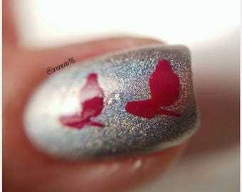 Nail Polish Bottle & Brush Stencil