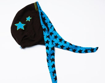 G OODIE hood, shawl, hat, Star, Brown, ice blue, headgear, cool, customized CAP, multifunctional