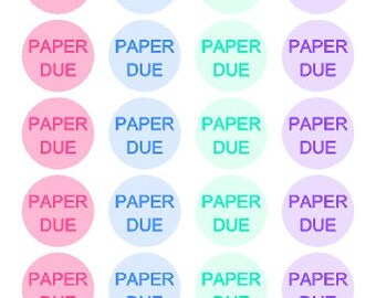 Paper Due // Student // University // College // Planner // Sticker