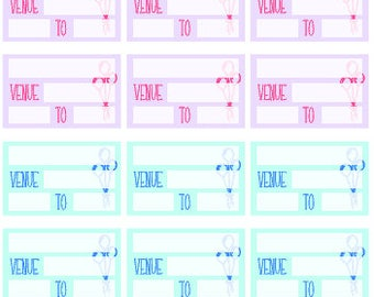 PARTY Tracking // Erin Condren // Happy Planner // Personal // Stickers