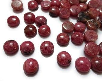 AAA Quality RHODOCHROSIT cabochon,6 mm/ 8 mm/ 10mm ,Rhodochrosit smooth cabochon. tiny gems, Tiny Cab, Superb gems for Jewellery