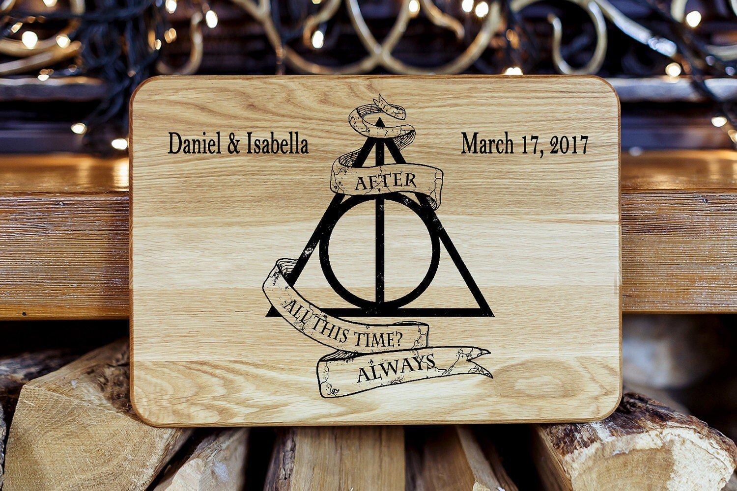 Personalized Cutting Board Harry Potter Wedding Gift
