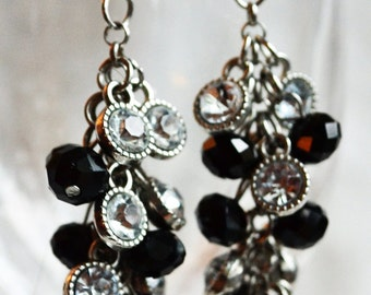 Clusters of Dangling Beads and Rhinestones