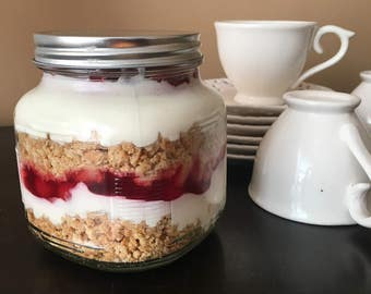 4-1pint cherry cheesecake jars