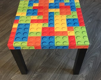Side table coffee room child room games Original Lego Table