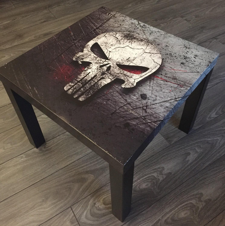 Side table table coffee dead head skull skull punisher blood zoom geotapseo Gallery
