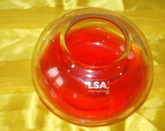 LSA  orange glass vase/ bowl. In a beautiful orange colour.