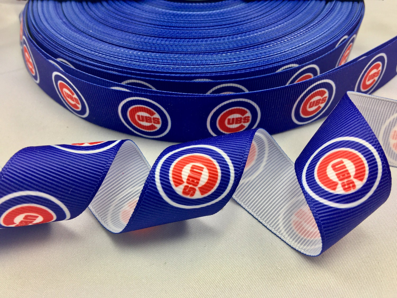 1 Quot 25mm Chicago Cubs Blue Grosgrain Ribbon 5 Yds Diy Hair