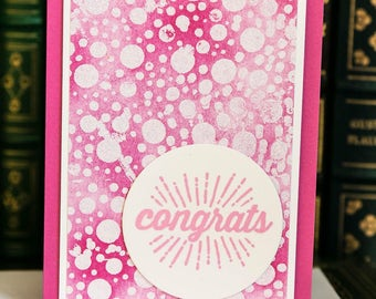 Congrats - Handmade watercolor card