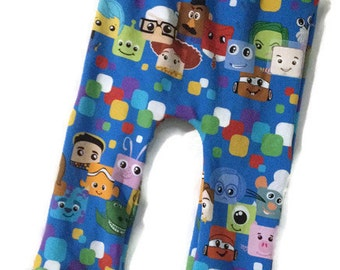 Blockheads Maxaloones - Size 1 - Grow with Me Pants - Ready to Ship - Disney Pants - Cloth Diaper Pants