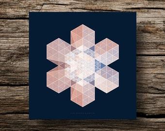 Table plexiglas design winter snowflake - Design plexiglas frame winter snowflake #1