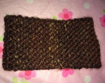 Brown Knitted Headband/Earwarmer/Adult size