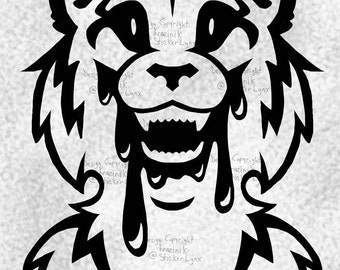 """Dripping Maw - Tiger - 5"""" Vinyl Decal"""