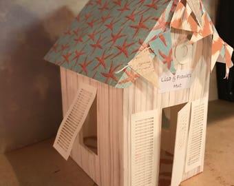 3D SVG Beach House, Beach hut, wedding favor, beach wedding, beach vacation decorations, for Cameo or Cricut cutting machine