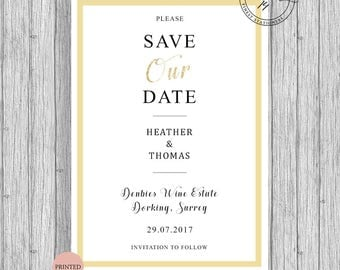 Save The Our Date Cards Invites Modern 2017 Custom Personalized A5 A6
