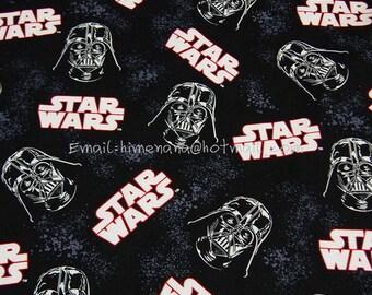 sw009 - 1 Yard SDLP Cotton Woven Fabric - Star Wars, Darth Vader - Black (W140)