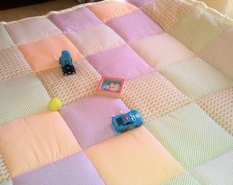 patchwork baby blanket,
