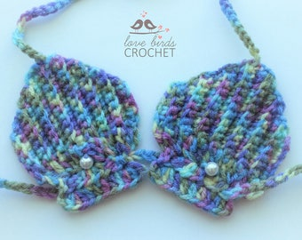 Baby Bikini . Shell Bikini . Crochet Bikini . Baby Swimsuit . Baby Ariel