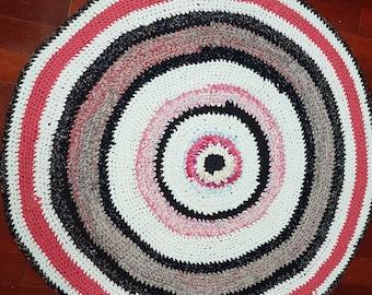 Hand made rag rug made with love