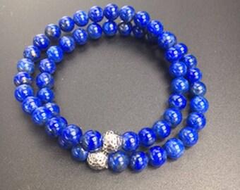 2 - 6mm lapis stackable bracelets
