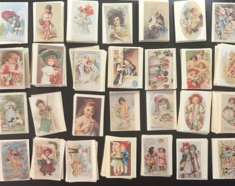 Lot of 4 Gallery Graphics Victorian Greeting Cards w/Envelopes Choice of Styles New