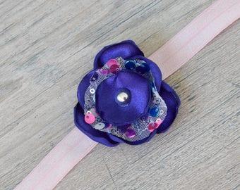 Purple and Pink Sequin Headband