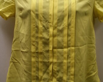 Yellow pleated front Tommy Hilfiger size xs