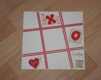 X's and O's Single Scrapbook Page