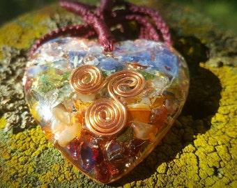 Heart Chakra Pendant in Copper
