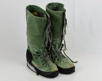 "Rare Original Vintage Vietnam jungle paratrooper USAF ""Mukluks"" Boots type N 1B"