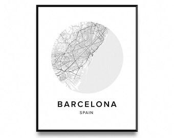 Barcelona Map Poster, Map of Barcelona Poster, Barcelona Map, Barcelona Print, Map Poster, Map Print, Printable Art, Art Print