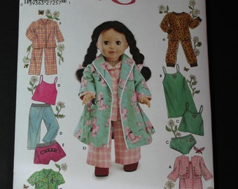 """New Simplicity 5276 for 18"""" doll"""